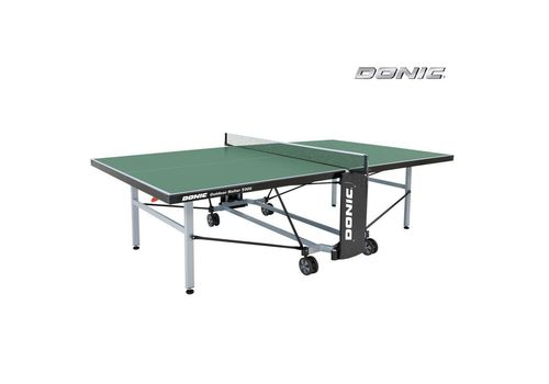 Теннисный стол DONIC OUTDOOR ROLLER 1000 GREEN (18165) №1 | спортивный интернет-магазин DSPORT